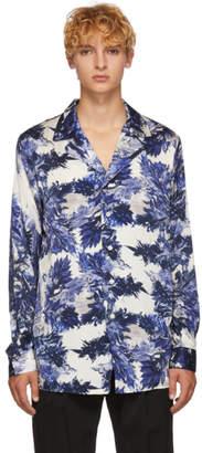BED J.W. FORD Blue Gara Pattern Shirt
