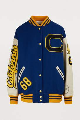 Calvin Klein Virgin wool varsity jacket