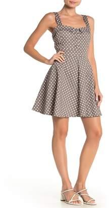 Papillon Polka Dot Sleeveless Fit & Flare Dress