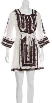 Calypso Silk Embroidered Dress