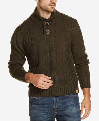 Weatherproof Vintage Men Button Mock-Neck Sweater