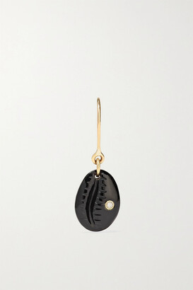 Pascale Monvoisin Cauri N°2 9-karat Rose Gold, Onyx And Diamond Earring - one size