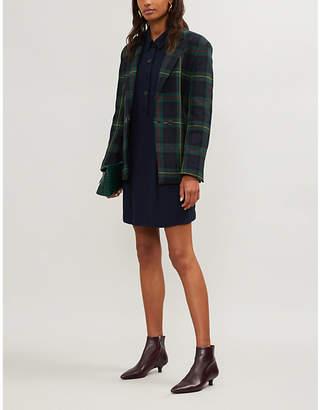 Claudie Pierlot Scalloped-detail crepe shirt dress