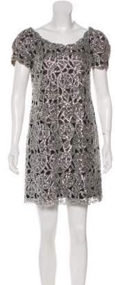 Randi Rahm Embellished Mini Dress Silver Randi Rahm Embellished Mini Dress