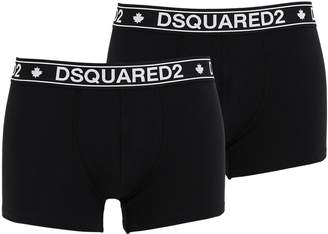 DSQUARED2 Underwear Pack Of 2 Logo Cotton Jersey Boxer Brief
