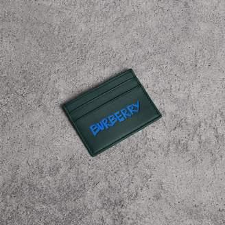 Burberry Graffiti Print Leather Card Case