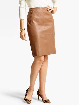 Talbots Stretch Leather Pencil Skirt