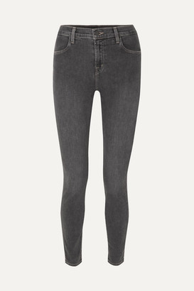 J Brand Maria High-rise Skinny Jeans - Gray