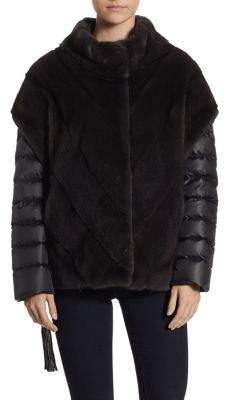 The Fur Salon Mink Fur Chevron Jacket