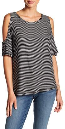 NYDJ Stripe Cold Shoulder Tee