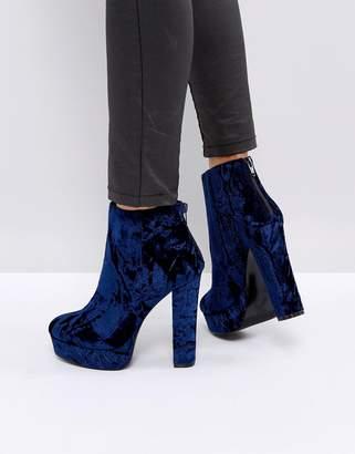Aldo Kasser Velvet Platform Boots