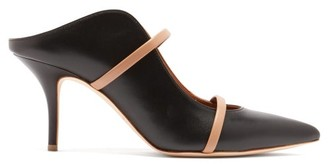 Malone Souliers Maureen Leather Mules - Womens - Black Nude