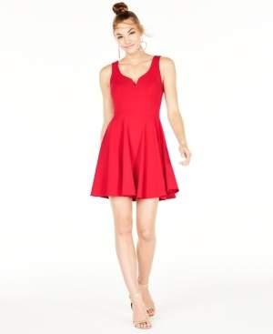 B. Darlin Juniors' V-Neck A-Line Dress