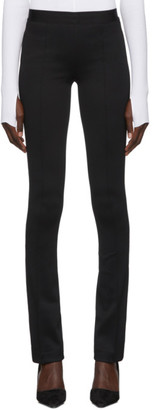 Helmut Lang Black Full Length Flare Leggings