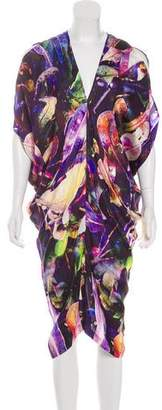 Zero Maria Cornejo Printed Draped Dress
