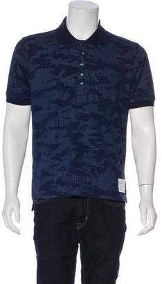 Thom Browne Houndstooth Abstract Patterned Polo Shirt w/ Tags