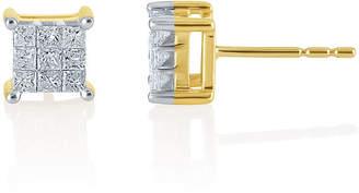 JCPenney FINE JEWELRY 1 CT. T.W. Princess Diamond 10K Stud Earrings