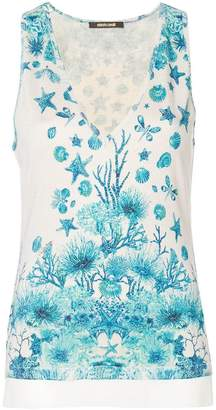 Roberto Cavalli sea inspired print blouse