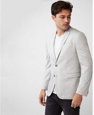 Express slim gray double knit blazer