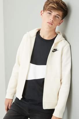 Nike Boys Club Oatmeal Full Zip Hoody - Natural