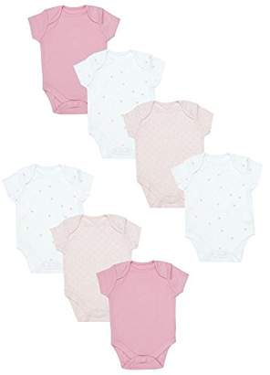 Mothercare Baby Girls' Pink 7 Pack Short Sleeve Bodysuits New,(Manufacturer Size: 50)
