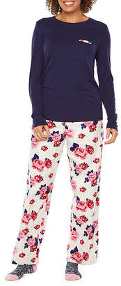Liz Claiborne 3 Piece Pant Pajama Set With Socks-Tall