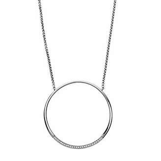 Skagen Women's Kariana Silver-Tone Crystal Circle Necklace