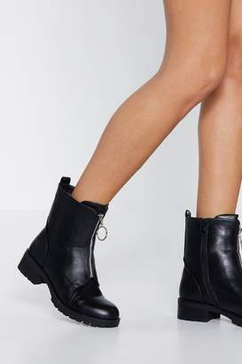 Nasty Gal O-ring to the Party Biker Boot