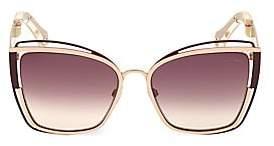 Roberto Cavalli Women's 57MM Square Cat Eye Sunglasses