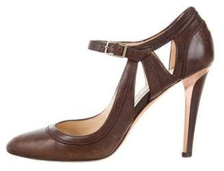 Jimmy Choo Leather Ankle Strap Pumps