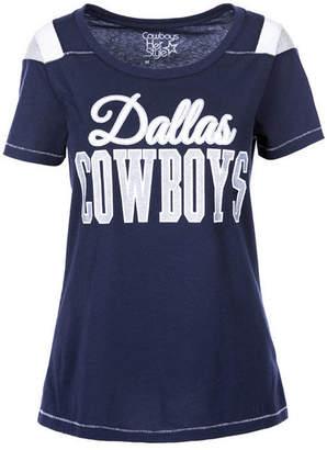 Authentic Nfl Apparel Women's Dallas Cowboys Flapper Glitter T-Shirt