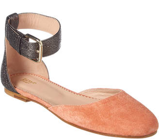 RED Valentino Dottyred Leather & Suede Ballet Flat