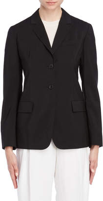 Jil Sander Black Wool Two-Button Blazer