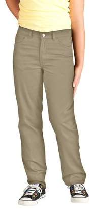 Dickies Girls' Skinny Fit Straight Leg 5-Pocket Stretch Twill Pants (Little Girls)