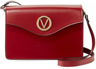 Mario Valentino Valentino By Jade Soave Leather Flap Shoulder Bag