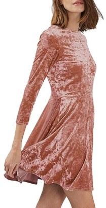 Women's Topshop Crushed Velvet Dress $60 thestylecure.com