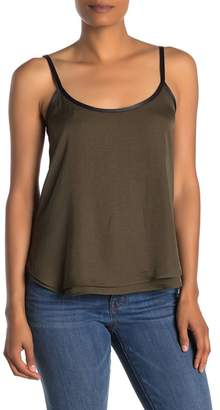 Kenneth Cole New York Double Layer Satin Cami Tank