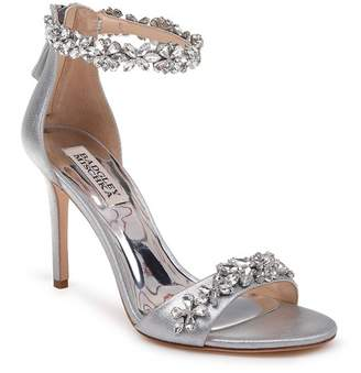 Badgley Mischka Valentine Embellished Leather Sandal