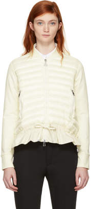 Moncler White Down Cardigan Jacket