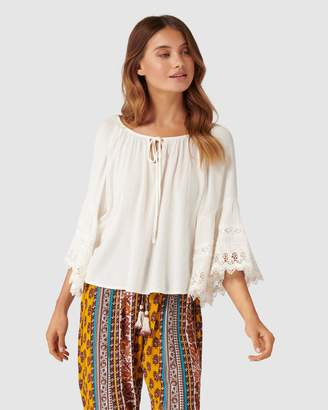 Band of Gypsies Lace Bell Sleeve Blouse