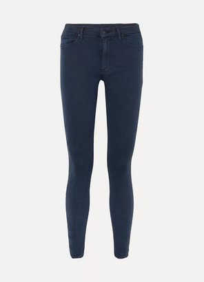 Mother The Looker Mid-rise Skinny Jeans - Dark denim