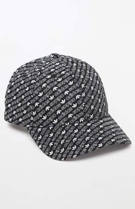 adidas All Over Print Black Strapback Dad Hat