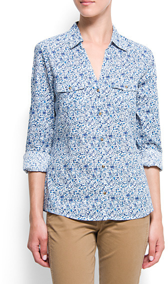 Wrapped printed shirt
