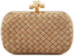 Bottega Veneta Woven-Chain Knot Minaudiere, Gold