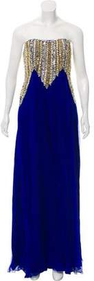 Jovani Embellished Silk Gown w/ Tags