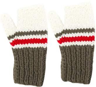 Maison Margiela striped panel gloves