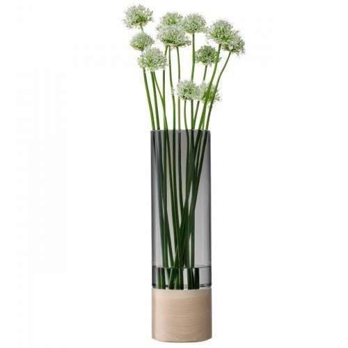 Lotta Vase/Kerzenglas, grau H48cm