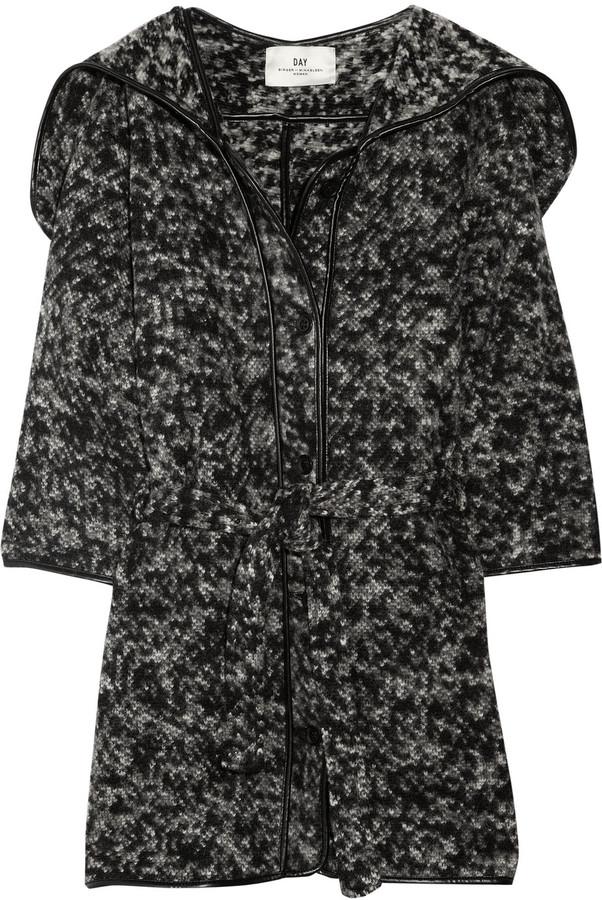 DAY Birger et Mikkelsen Hooded wool-blend cardi-coat