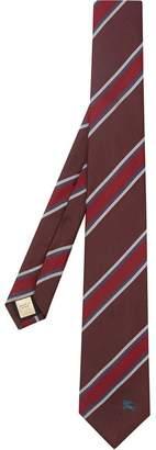 Burberry Modern Cut Striped Silk Jacquard Tie