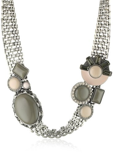 Rachel Leigh Silver Plated Deco Statement Necklace